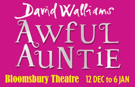 Stage adaptation of David Walliams' Awful Auntie to premiere at the Bloomsbury Theatre