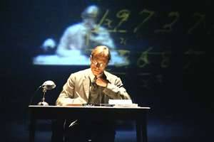 David Annen as the mathematician G.H Hardy in A Disappearing Number (Photo: Tristram Kenton). Original cast.
