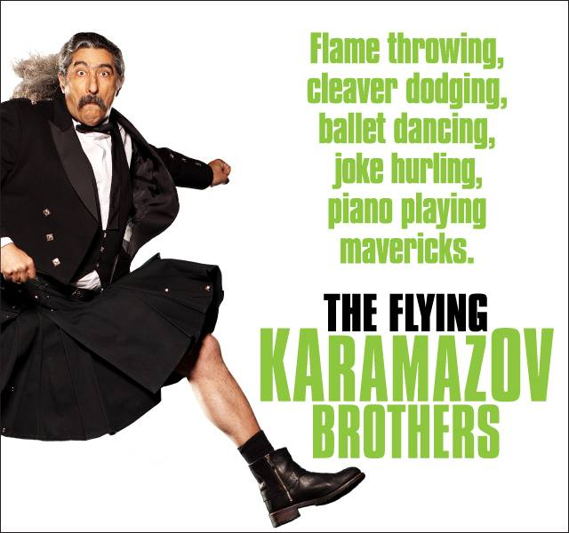 The Flying Karamazov Brothers at the Vaudeville Theatre