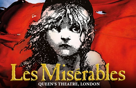 Les Miserables at Queens Theatre & Dinner at Jamies Italian - Piccadilly