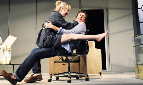 Hattie Morahan and Toby Stephens in The Real Thing. Photograph: Tristram Kenton