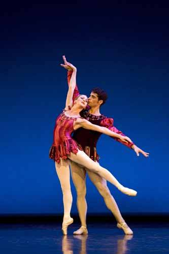 Claire Robertson and Cristo Vivancos in Balanchine's Rubies