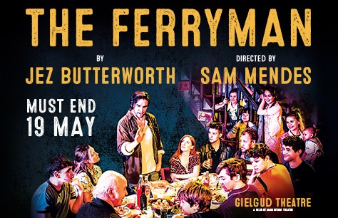 The Ferryman & Dinner at Planet Hollywood at Gielgud Theatre, London