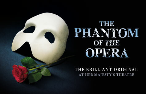 The Phantom of the Opera and Dinner at Farzi Cafe tickets at Her Majesty's Theatre