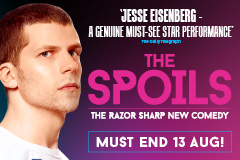 The European Premiere Of The Critically Acclaimed Off-broadway Hit Comedy The Spoils. Written By & Starring Jesse Eisenberg.
