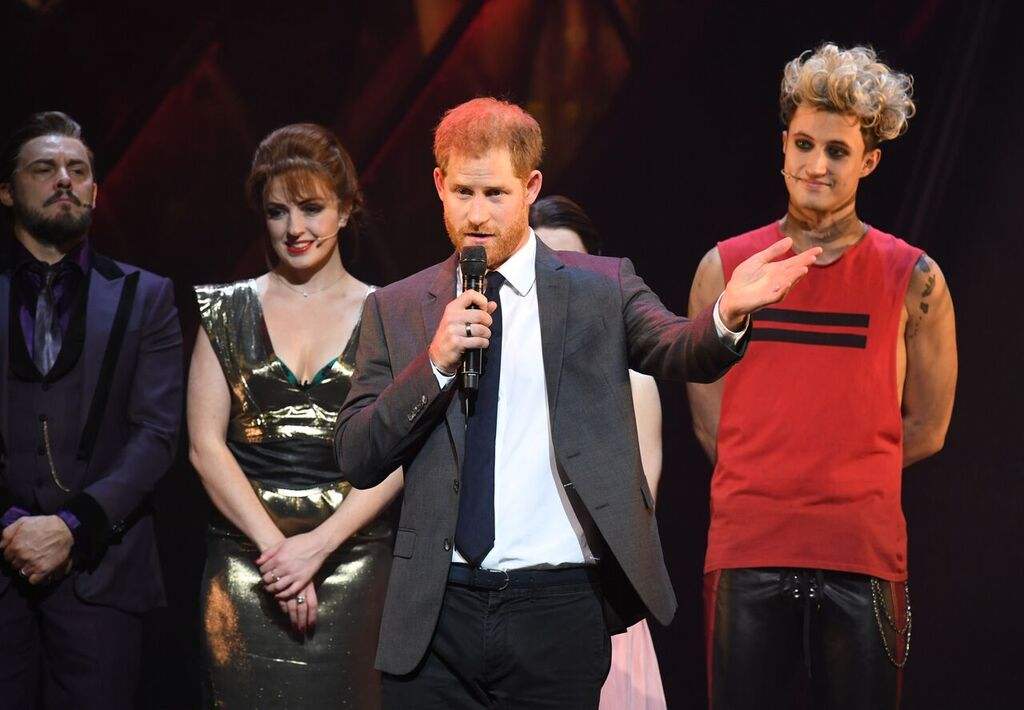 Prince Harry attends a special gala performance of Bat Out Of Hell