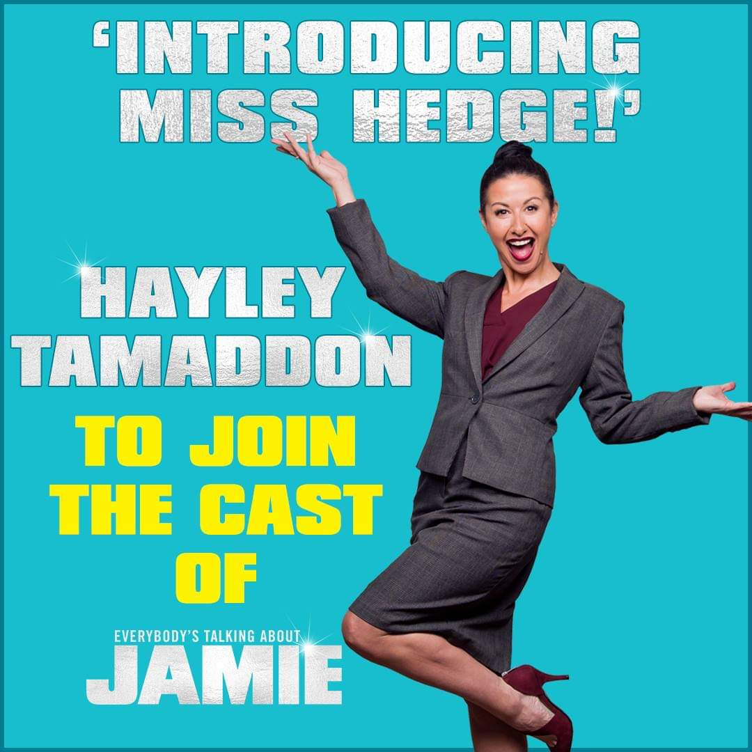 Hayley Tamaddon to replace Michelle Visage as Miss Hedge in West End musical Everybody's Talking About Jamie
