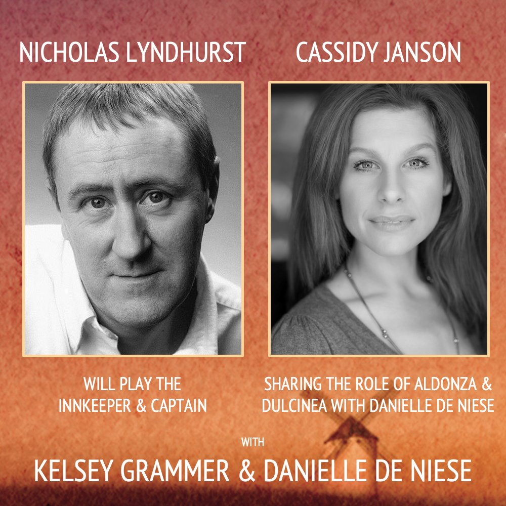Legendary TV star Nicholas Lyndhurst and musical theatre actress Cassidy Janson join the cast of Man of La Mancha at the London Coliseum