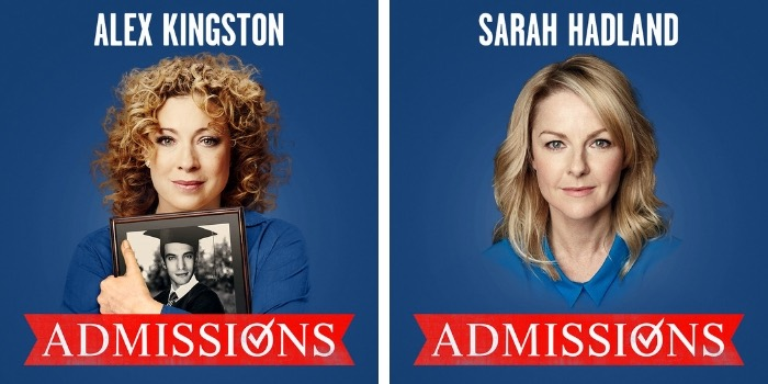 Further casting announced for London Admissions play at Trafalgar Studios, Miranda actress Sarah Hadland to join Alex Kingston