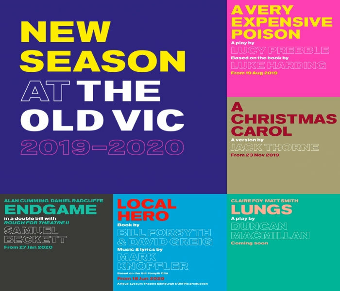 What's on at The Old Vic for Season 5 (2019-2020)?