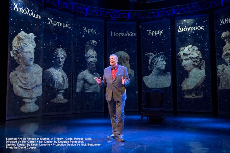Extra performance added for Stephen Fry's Mythos: Gods at the London Palladium