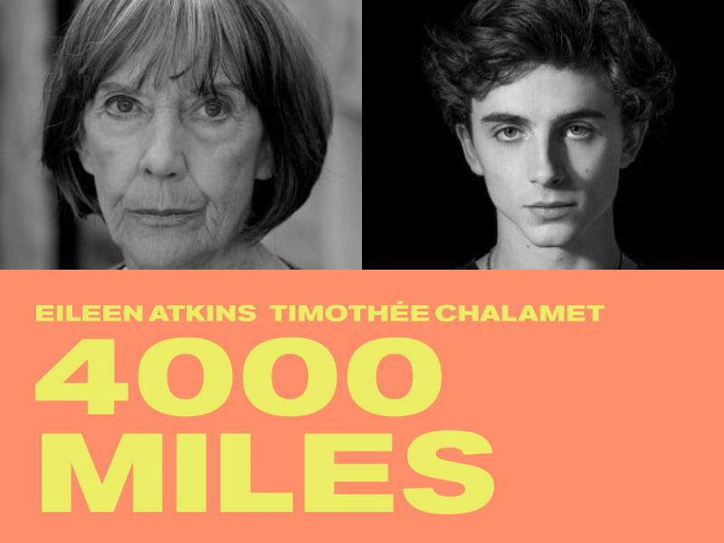 CMBYN actor Timothee Chalamet to star in 4000 Miles at The Old Vic opposite Eileen Atkins