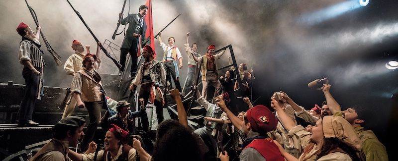 An on-stage fire interrupts Les Mis performance in Cardiff