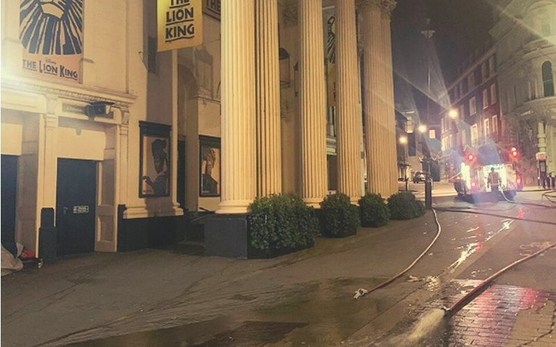The Lion King's London home, the Lyceum Theatre, has been flooded