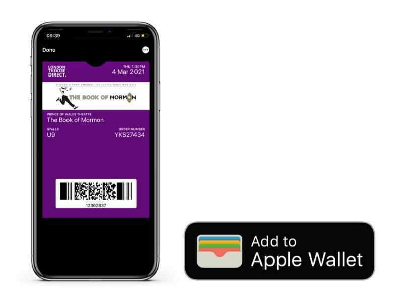 London Theatre Direct introduce Apple Wallet tickets in a West End first