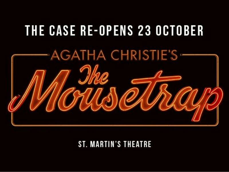 The Mousetrap to re-open in October with socially distanced performances