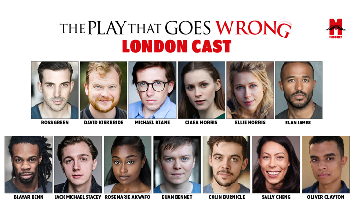 West End cast announced for The Play That Goes Wrong reopening