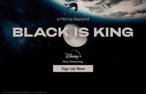 Beyoncé's Black is King now available to stream on Disney+!
