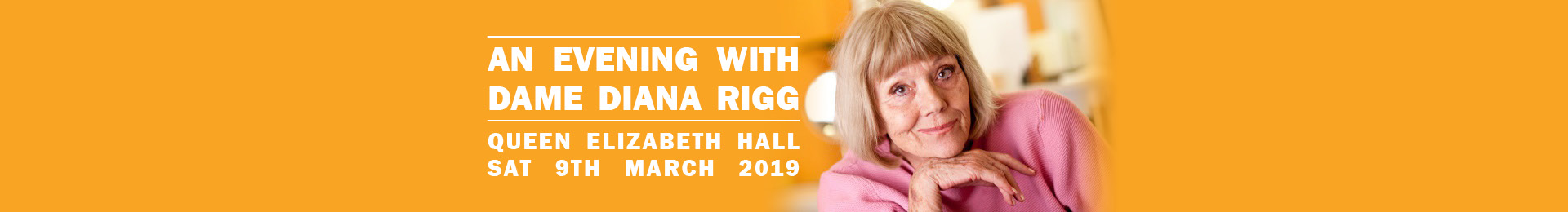 An Evening With Dame Diana Rigg banner image