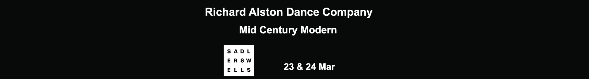 Richard Alston Dance Company — Mid Century Modern
