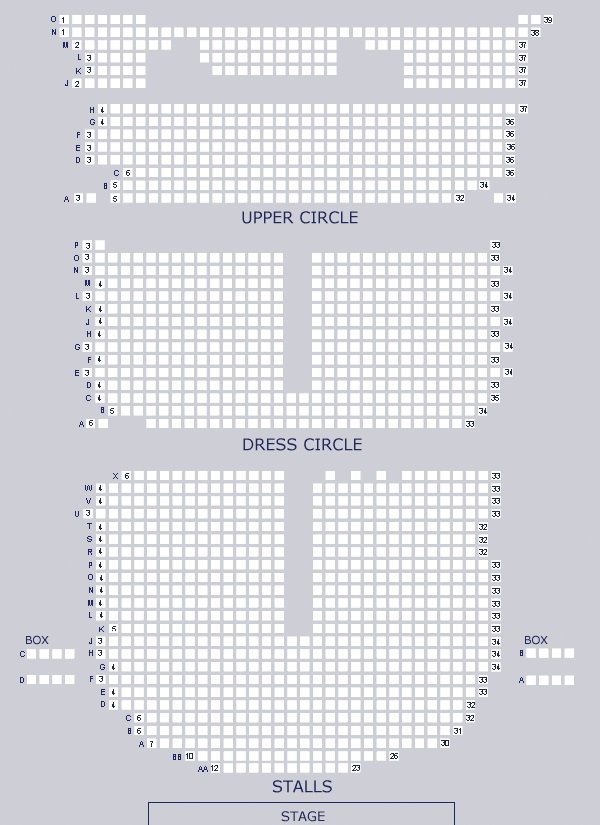 Adelphi Theatre Seating Plan
