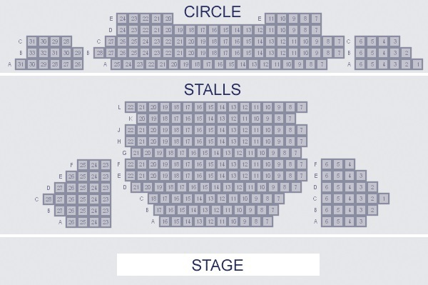 Almeida Theatre Seating Plan