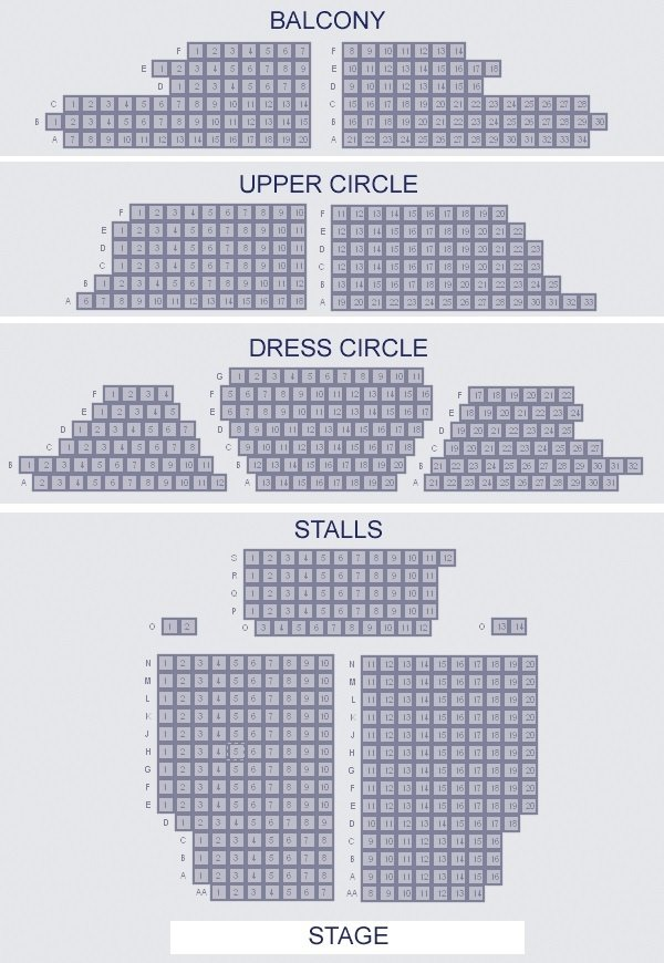 Apollo Theatre Seating Plan