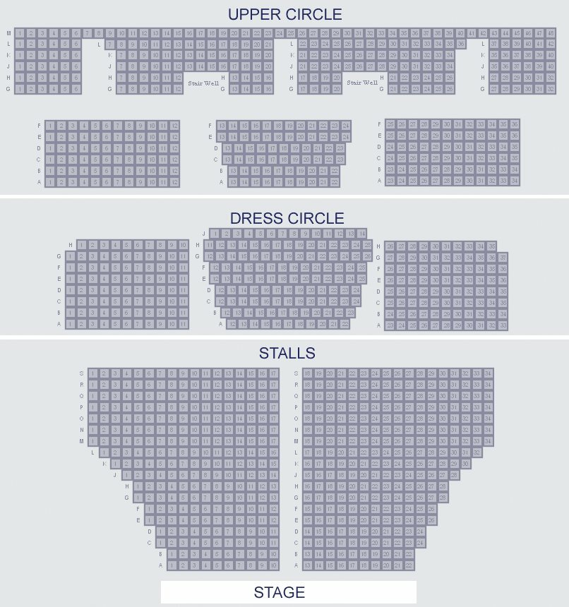 Cambridge Theatre Seating Plan