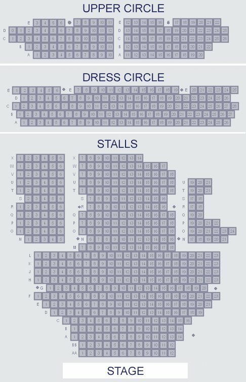 Garrick Theatre seating plan
