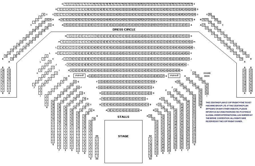 Gillian Lynne Theatre seating plan