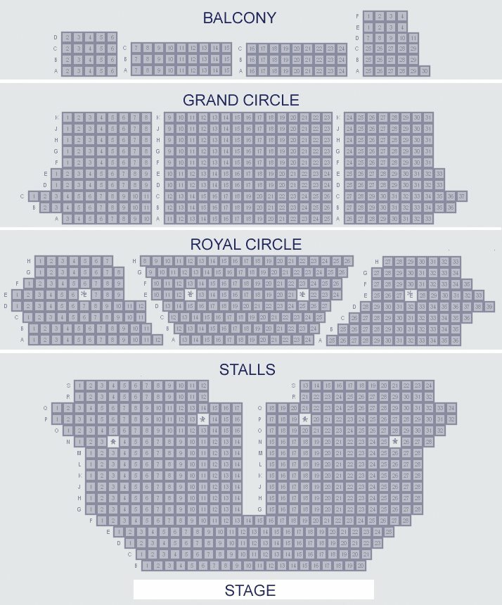 Her Majesty's Theatre seating plan