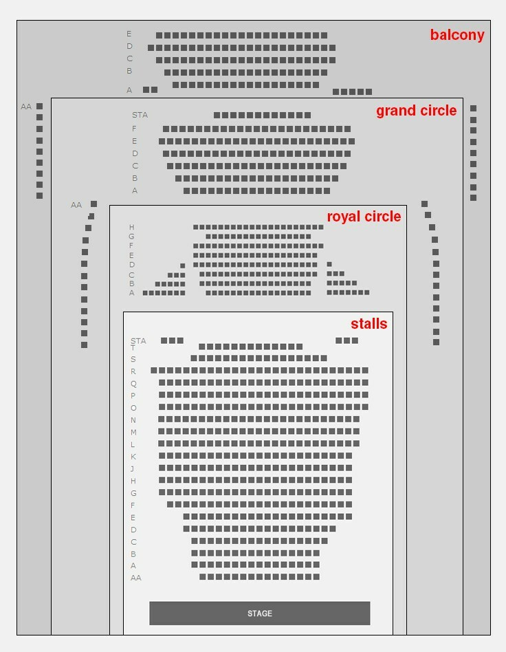 Noel Coward Theatre Seating Plan