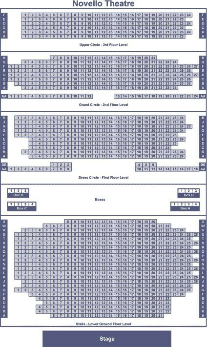Novello Theatre seating plan