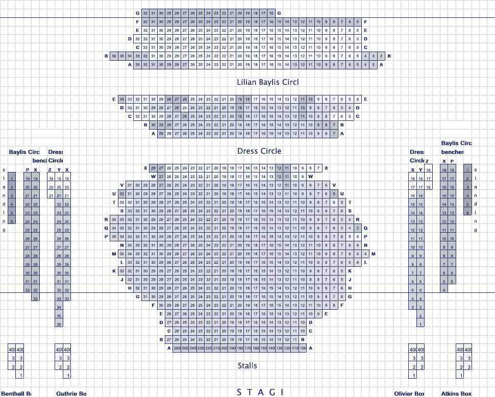 Old Vic Theatre Seating Plan