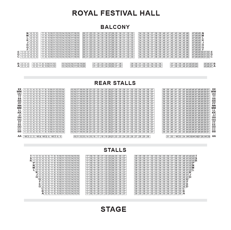 Southbank Centre seating plan