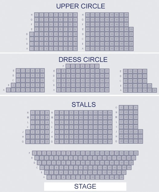 St Martin's Theatre Seating Plan