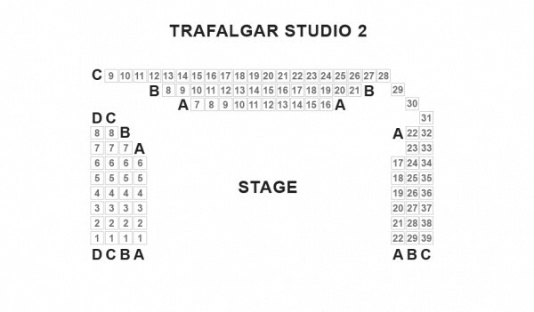 Trafalgar Studios 2 Seating Plan