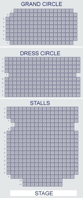 Vaudeville Theatre seating plan