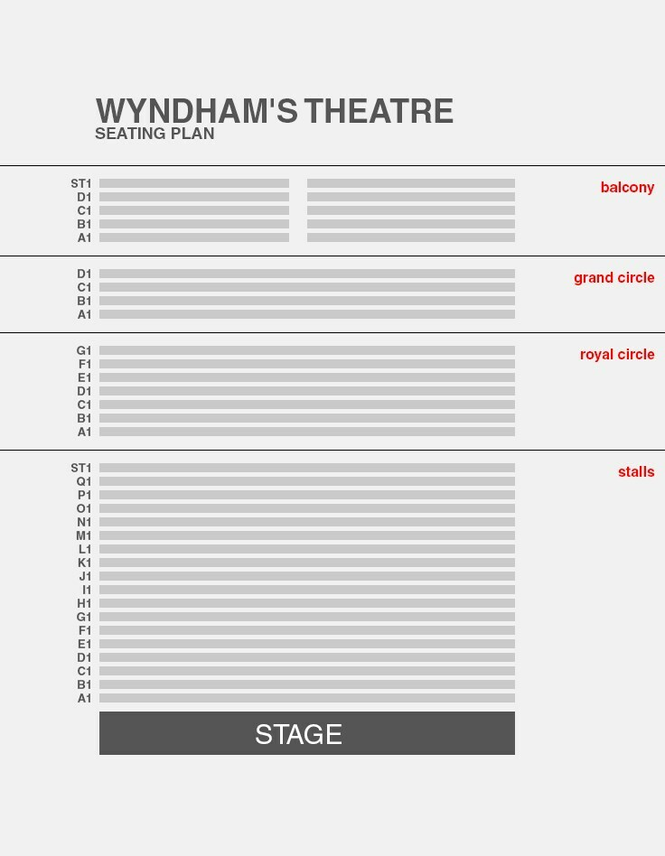 Wyndham's Theatre Seating Plan